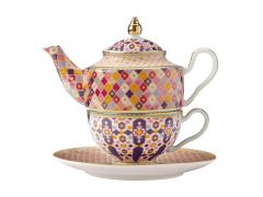 Teas & C's Kasbah Tea For 1 with Infuser 380ML Rose Gift Boxed