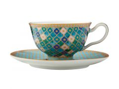 Teas & C's Kasbah Footed Cup & Saucer 200ML Mint Gift Boxed