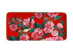 Teas & C's Silk Road Rectangle Platter 33x15.5cm Cherry Red Gift Boxed