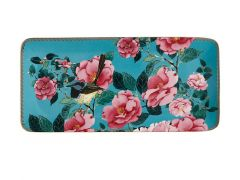 Teas & C's Silk Road Rectangle Platter 33x15.5cm Aqua Gift Boxed