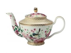 Teas & C's Silk Road Teapot with Infuser 500ML White Gift Boxed