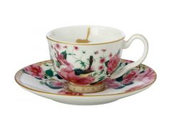 Teas & C's Silk Road Demi Cup & Saucer 85ML Set of 2 White Gift Boxed
