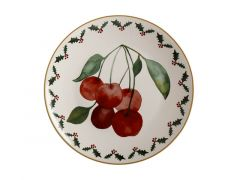 Poinsettia Plate 20cm Cherry Gift Boxed