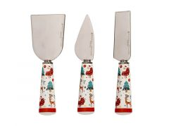 Festive Friends Cheese Knife Set of 3 Gift Boxed
