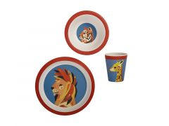 Pete Cromer Wildlife Children's Bamboo 3pc Set Lion