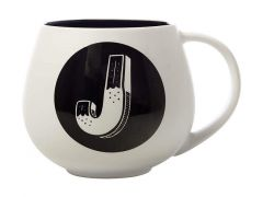 "The Letterettes Snug Mug 450ML ""J"" Gift Boxed"