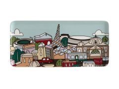 Megan McKean Cities Rectangular Plate 25x12cm Melbourne Gift Boxed