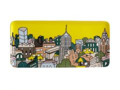Megan McKean Cities Rectangular Plate 25x12cm New York Gift Boxed