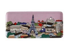 Megan McKean Cities Rectangular Plate 25x12cm Paris Gift Boxed