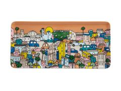 Megan McKean Cities Rectangle Plate 25x12cm Los Angeles Gift Boxed