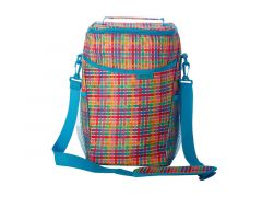 Kasey Rainbow Be Kind Insulated Picnic Cooler Bag Plaid