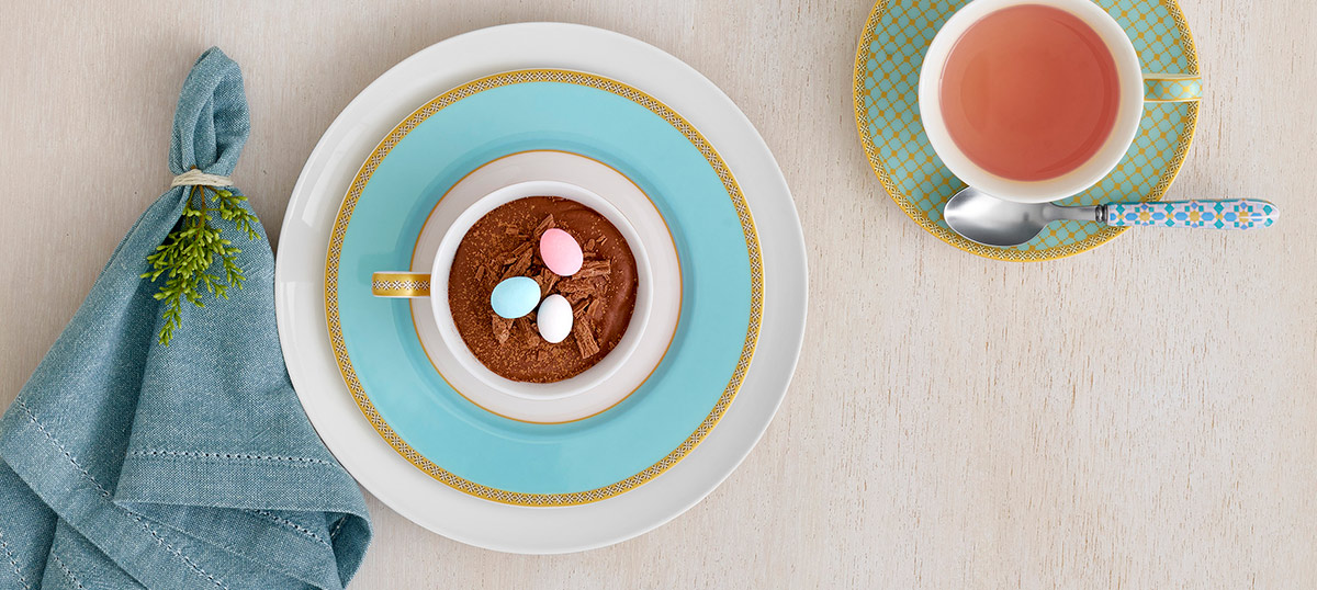 Easter Chocolate Mousse with Teas & C's Kasbah
