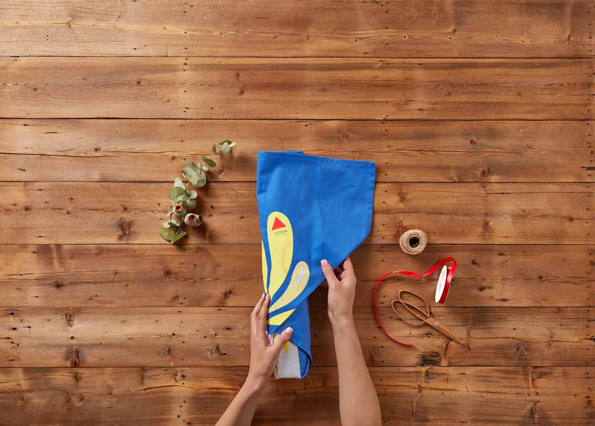 No Waste Gift Wrapping with Pete Cromer Tea Towels - Blog