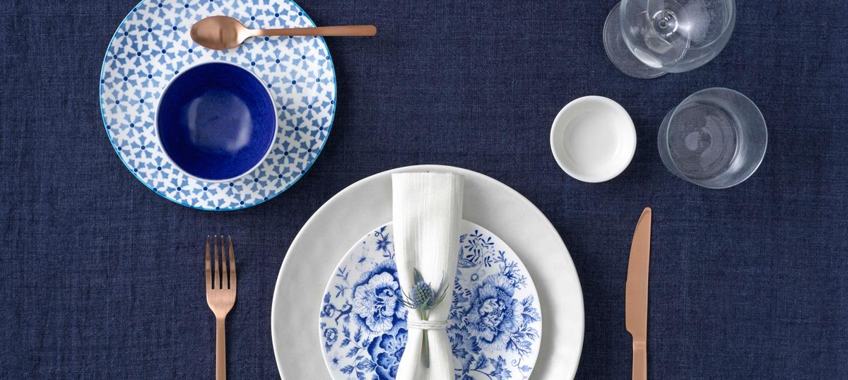 How to mix & match blues & whites