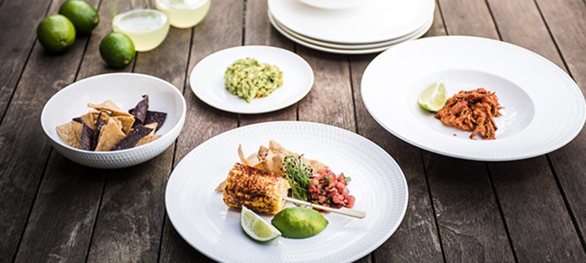 Outdoor Styling Tips with our White Basic Diamonds Dinnerware