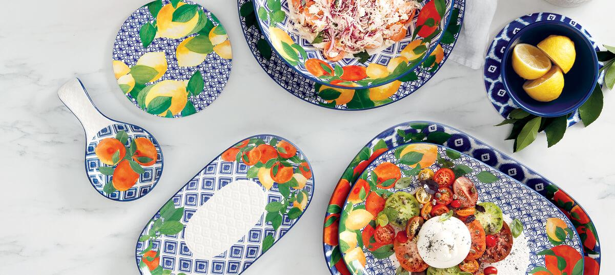 3 Recipes to enjoy al fresco with the Positano collection